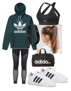 """""""Adidas workout"""" by marymartinsonn ❤ liked on Polyvore featuring adidas, NIKE and Fitbit"""