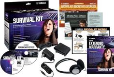 Yamaha SKD2 Survival Kit for Portable Yamaha Keyboards by Yamaha. $30.59. Contains everything you need to make using your Yamaha portable keyboard that much more enjoyable: a power adaptor, a foot switch, headphones, and DVDs. Plus, you also receive a two-year extended warranty and over $200 of rebate coupons on great Yamaha instruments and accessories.