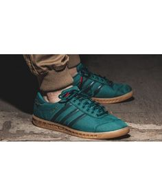 detailed look 80504 1c104 Adidas Hamburg Gore Tex Core Green Trainer