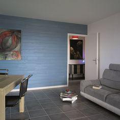 Lambris PVC, MDF : 20 modèles - Côté Maison Decoration, Flat Screen, Design, Inspiration, Shopping, Style, Blue, Decor, Blood Plasma