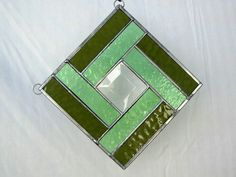 Stained Glass Quilt Square Suncatcher in Shades of by ArtfulFolk, $20.00