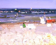 BATO DUGARZHAPOR - Beach...Bato was born in Duldurga village near the Chinese and Mongolian borders of Russia. He studied at the Moscow Tomskiy Art school. He graduated from the Surikov Art Institute in Moscow. He is a member of the Moscow Artists' Union and currently lives and works in Moscow.