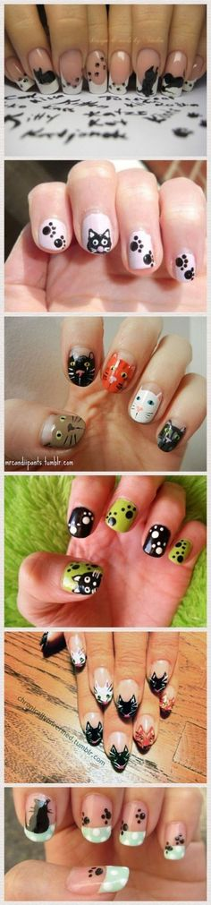 Cat Nail Art                                                                                                                                                                                 More