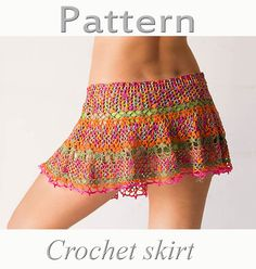 PATTERN Crochet beach skirt PDF lace cover up ♥ by katrinshine, $5.00