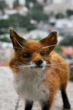 Needle Felted Animal . Fox. Made for custom by darialvovsky