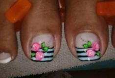 Nails Cute Toe Nails, Cute Toes, Feet Nails, Toe Nail Designs, Creative Nails, Nail Care, Nail Colors, Manicure, Polish