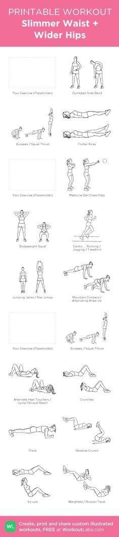 Slimmer Waist + Wider Hips: my visual workout created at WorkoutLabs.com • Click…