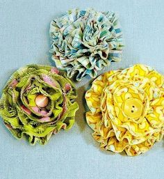 Break out your prettiest fabric scraps for these DIY fabric flowers. These vintage-inspired fabric flowers are perfect for embellishing a new top or dress. #BuyFabric