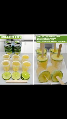 Lime-A-Rita ice pops ... Good for beach trip with the girls