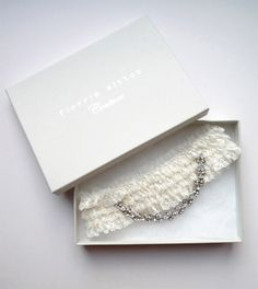 couture bridal garters from Florrie Mitton on Etsy.com