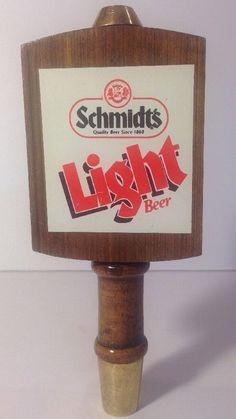 Vintage Schmidt's Light Beer Tap