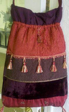 Burnt orange brown burgundy Boho style Hobo bag by OdysseyandYve, $43.00
