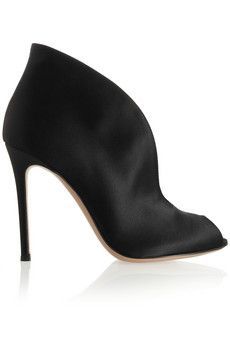 Gianvito Rossi Cutout satin ankle boots | NET-A-PORTER