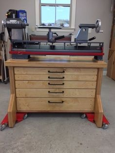 Built a benchtop cabinet stand for my new Robust Scout Lathe. Woodturning Tools, Lathe Tools, Woodworking Lathe, Wood Tools, Woodworking Crafts, Wood Turning Lathe, Wood Turning Projects, Wood Lathe, Wood Projects