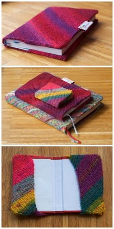 I can't knit, but I could sure rip up an ugly sweater to make this! I think I have a forest green one with a tight weave that would be perfect and make about 5 of these!