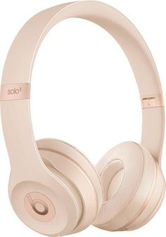 Beats Solo 3 Wireless On-Ear Headphones - Matte Gold (Refurbished) Best In Ear Headphones, Girl With Headphones, Bluetooth Headphones, Beats Headphones, Accessoires Iphone, Gifts For Teens, Matte Gold, Phone Accessories, Kawaii Accessories