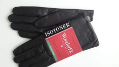 Isotoner Mittens Women/'s Black Ivory Lined Fuzzy One Size OS New With Tags NWT