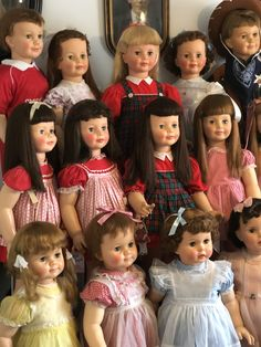 Playpal babies Patti Playpal Marla's dolls May 2019 Toddler Dolls, Baby Dolls, Vintage Dolls, Retro Vintage, Old Dolls, Antique Toys, Doll Houses, Teddy Bears, Stuffed Animals