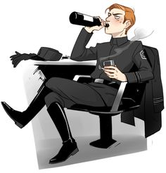 Drunk wine mom Hux by hicstreme0