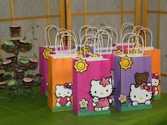Hello Kitty Candy Bags | bags using hello kitty cart i also made all edible marshmellow hello ...