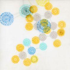 Sulphur Mustard, 2011, coloured pencil, acrylic, graphite, embroidery on Dura-Lar, Lisa Solomon