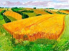 "DAVID HOCKNEY : A Year In Yorkshire..""Wheatfield Near Fridaythorpe"" - 2005..  T"