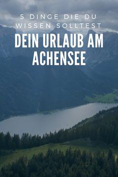 Urlaub am Achensee Tirol geplant? Der Achensee liegt eingebettet zwischen Rofan- und Karwendelgebirge. Mit etwa 720 Hektar der größte See in Tirol, bezaubert er mit smaragdgrünem, kristallklarem Wasser in Trinkwasserqualität. Auf dem Achensee und rund um sein Ufer haben Sie rund ums Jahr unzählige Möglichkeiten für Aktivurlaub. Genießen Sie Tirol beim Langlaufen, Winterwandern und Alpinski im Winter bis ins Frühjahr, Wandern, Biken und Golfen im Sommer bis in den goldenen Herbst. Seen In Tirol, Outdoor Reisen, Austria, Budget Travel, Outdoor Adventures, Bike Rides, Round Trip