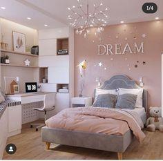 Pink Bedroom Decor, Room Design Bedroom, Bedroom Decor For Teen Girls, Girl Bedroom Designs, Home Room Design, Small Room Bedroom, Stylish Bedroom, Aesthetic Bedroom, Dream Rooms