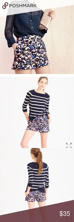 "J.Crew Cotton-Linen Floral Hibiscus Printed Shorts New with tags. Sit at waist - 3"" inseam. J. Crew Shorts"