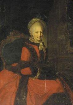 Philippine Charlotte of Brunswick-Wolfenbüttel by Anna Rosina de Gasc. Female Painters, Anna, Rococo Fashion, Ferdinand, Pictures To Paint, Female Portrait, Wikimedia Commons, European Fashion, Fur Trim