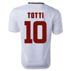 A.S.Roma 2014-2015 season Totti #10 Away White Soccer Jersey [A673]