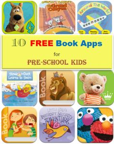 10 free book apps for preschool kids - great for summer read