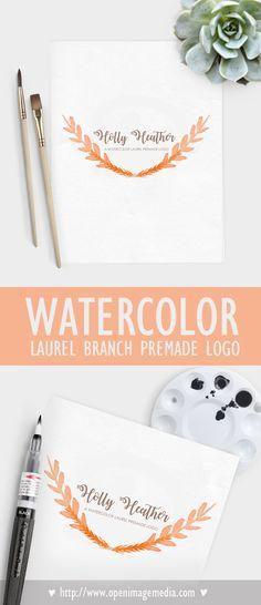 Watercolor Laurel Br