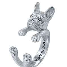 French Bulldog Breed Jewelry Cuddle Wrap Ring