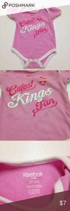 """Reebok L A Kings Baby Girl Pink Onesie 6/9 Months L A Kings Baby Girl Pink Onesie """"Future Kings Fan"""" 6/9 Month made by Reebok Reebok Shirts & Tops Tees - Short Sleeve"""