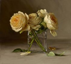 Sarah Lamb is an accomplished contemporary oil painter based in Southeastern Pennsylvania. Her primary focus is painting classical-style still life paintings in a contemporary manner. Art Floral, Flower Of Life, Flower Art, Sarah Lamb, Illustration Blume, Still Life Art, Yellow Roses, Painting Inspiration, Beautiful Flowers