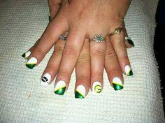 Green Bay Packer Nail Art Dress Your Nails Pinterest Packer