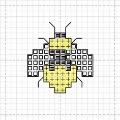 Free Cross Stitch Charts | Free Bee Cross Stitch Mini Motif Chart
