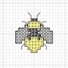Free Cross Stitch Charts | Free Bee Cross Stitch Mini Motif Chart