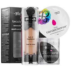 Kat Von D - KVD   beautyblender Just ordered this set on Sephora for a stupid cheap price and I'm so dlansjdbfj excited to get it!!