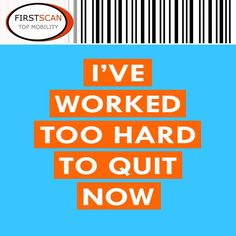 Whenever you feel like giving up, think about how hard you have worked to get to the point you are at today. Remember, there is no easy road to success. Wishing you all an excellent Sunday from FirstScan. #motivational #inspirational #technology