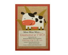 Printed Handmade Birthday Party Invitations – 10 Invites & 10 Envelopes - Farm Animal Theme - Kids Party  – FREE PERSONALIZATION