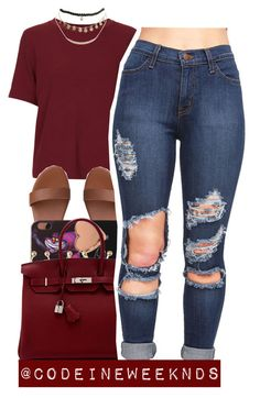 """""""11/8/15"""" by codeineweeknds ❤ liked on Polyvore featuring Topshop, Disney, Ted Baker, Charlotte Russe, Hermès and Wet Seal"""