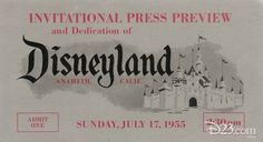 Disneyland Press Preview Pass