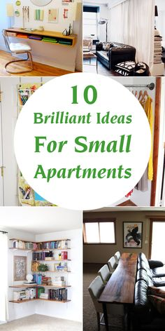 Clever Ideas For Your Small Apartment These small space hacks are sure to make life in your small apartment so much more enjoyable!These small space hacks are sure to make life in your small apartment so much more enjoyable!