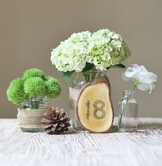 Use decal transfer paper to transfer printed numbers onto wood surfaces like with these DIY rustic table numbers.