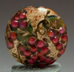 Lampwork+Focal+Bead+Lentil+Wine+Country+by+AshtonJewels+on+Etsy,+$75.00