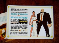 Superhero Wedding Invitation
