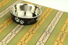 Dog Placemat Medium 19x25 Waterproof Dog Food Mat Pet