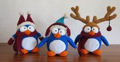 """Heute kommt meine Lieblingsanleitung für das diesejährige Weihnachtsfest. Ich habe mich für ein paar """"gut angezogene"""" Pinguine entschieden. ..."""